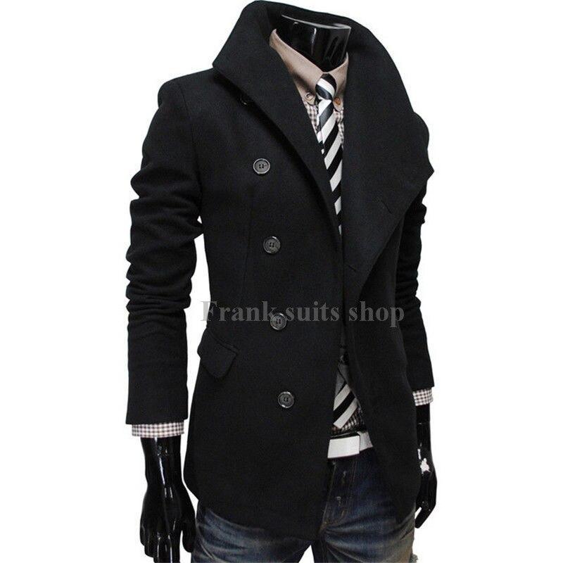 2017 Maßgeschneiderte Formal Herren Wollmischung Fünf Taste Männer Neue Outwear Winter Warme Wollmantel Blazer Dünner Mantel Quell Sommer Durst