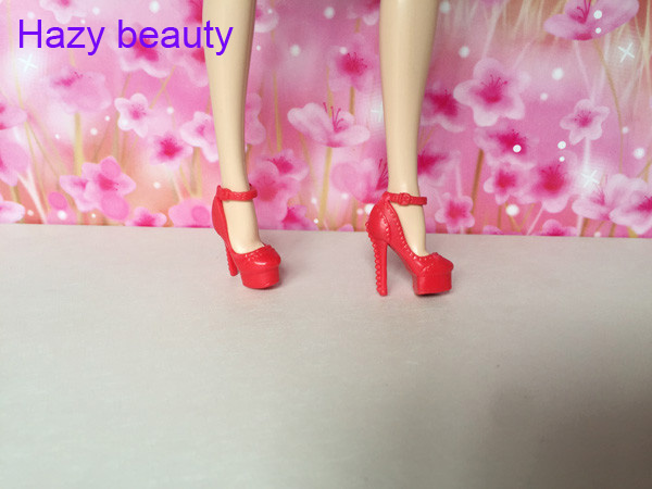 Hazy beauty 15 different styles for choose  Casual High heels doll shoes for Barbie 1:6 Doll Fashion Cute Newest BBI00691 hazy beauty festival gifts sock stockings casual clothes trousers for barbie 1 6 doll bbi00167