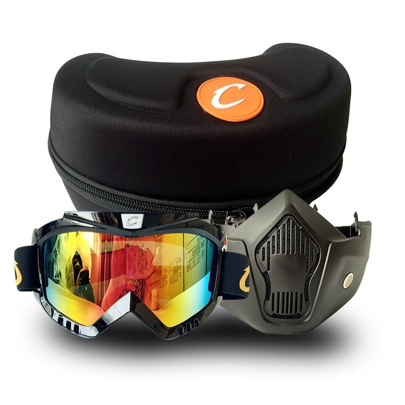 Motocicleta retro Cascos de cara abierta Máscara Gafas Máscara de - Accesorios y repuestos para motocicletas