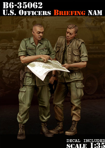 Scale Models <font><b>1</b></font>/ <font><b>35</b></font> soldier U.S. Officers Briefing Nam <font><b>Vietnam</b></font> <font><b>war</b></font> <font><b>figure</b></font> Historical <font><b>Resin</b></font> Model image