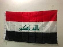 Bandeira do iraque atividade decorativa bandeira nacional 90x150cm