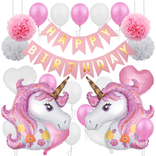 Unicorn Party Decoration Balloons Boys Girls Baby Adult Birthday Banquet Background Wall Arrangement Theme Party Decoration moyra tarling the baby arrangement