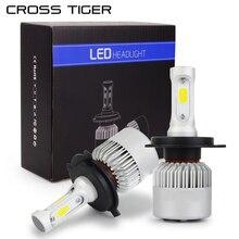 ข้ามเสือLEDไฟหน้ารถ10000LM/ชุดที่มี3ด้านแสงH1 H3 H4 H7 H11 H13 H27 9004 HB3 9006 HB4 9007 HB5 Creeโคมไฟหลอดไฟ