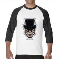 2017 Hot Selling Funny Mr Robot Funny Raglan Sleeve T Shirt Men