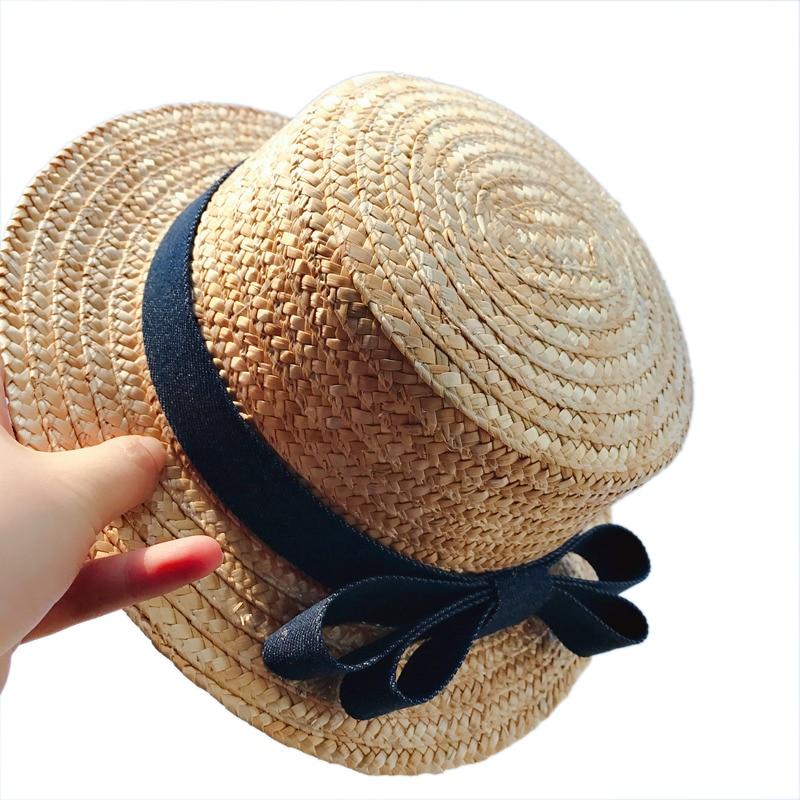 Summer Children Princess Sun Straw Hats Kids Baby Girls Fashion Bow Straw  Beach Cap Sun Hat Mom And Kid Parent-child Hat