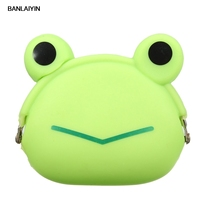 Women Girls Wallet Kawaii Cute Cartoon Animal Silicone Jelly Coin Bag Purse Kids Gift Small
