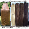 Extensões de Cabelo Trama pele Hip Comprimento 26 inch 20 pcs/70g Sedoso Brasileira PU Cabelo Fita Em Linha Reta Cor #4 Marrom Médio em Humano cabelo