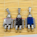 New Charm Cool Robot Stainless Steel Pendant Trendy Jewelry Lucky Boys gift amulet European Fashion Accessorise 1pcs