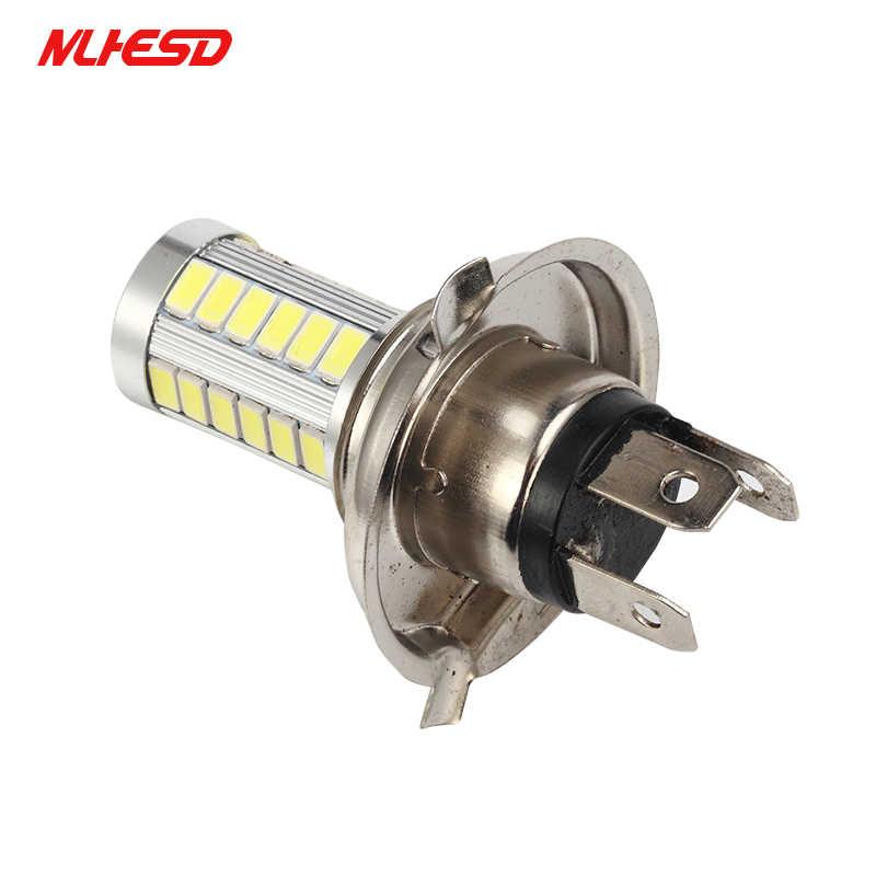 2 قطعة H4 33 SMD 5630 5730 سيارة Led أضواء الإشارة مصابيح ضباب النهار تشغيل ضوء 33SMD السيارات الخلفية عكس المصابيح الأبيض