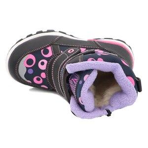 Image 5 - Sevimli kartal kış kız çizmeler sıcak yün okul açık sevimli bebek fermuar çizmeler peluş kauçuk kış kar botları kızlar ab boyutu 27 32