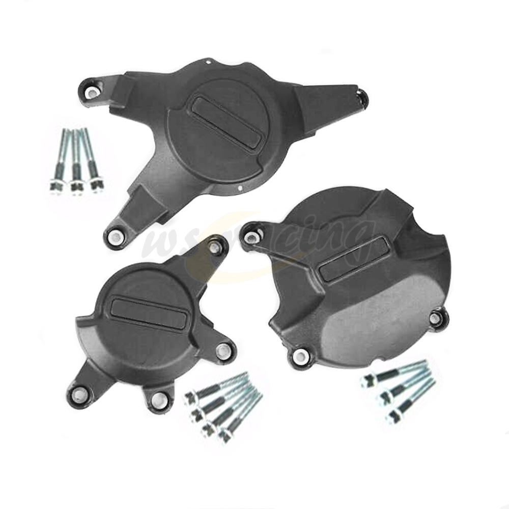 Motorcycle black engine cover protection case set kit for honda cbr1000rr cbr 1000 rr 2008