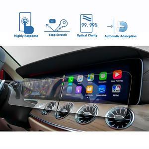 Image 5 - Ruiya 2 pçs protetor de tela para 2019 g class w464 12.3 Polegada tela de navegação do carro auto interior adesivos acessórios