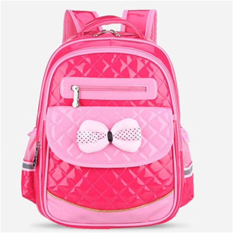 Mignon arc princesse enfants sacs d'école Top qualité orthopédique étanche sac à dos Mochila pour adolescents enfants filles sac à dos