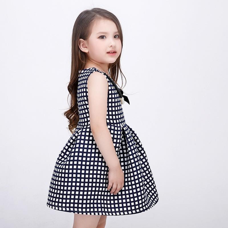 b45ec2d8c 2016 New Style European Baby Girl Princess Dress Fashion Plaid ...