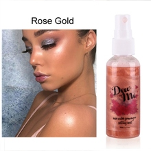 Hydrating Rose Moisturizing Pearlescent Spray Rose Water Priming and Setting Mist Highlighter Makeup Cosmetic