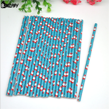 BXLYY 25Creative Disposable Color Christmas Party Decoration Drink Juice Paper Straws Garden Wedding Supplies Halloween Gifts.7z