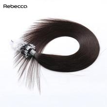 Ребекка волос #2 Цвет 16-24 дюймов 50 г/компл. бразильский не Реми прямые волосы Micro Loop кольцо человека Выдвижения волос сплавливания синтетические