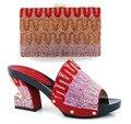 Combinando Sapato E Bolsa Para O Casamento Italy Sapato E Bolsa de Definir 4 cores mulheres de Sapato E Bolsa Para Combinar Com Qualidade Um Sapato E Bolsa de Conjunto MQQ1-27