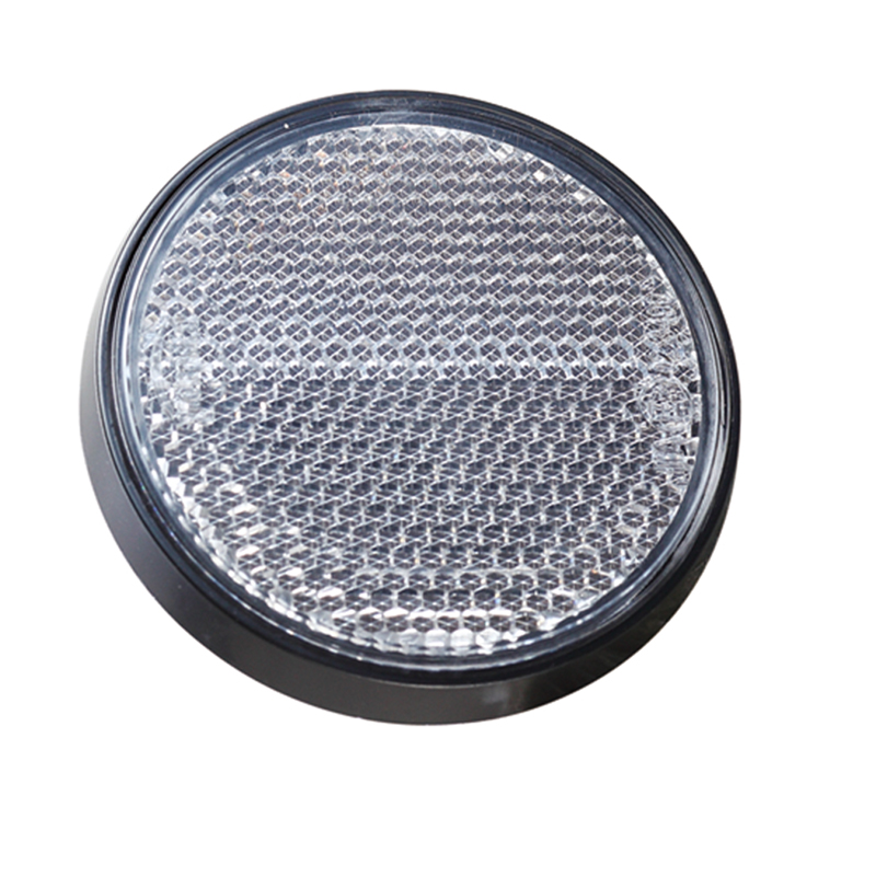 Image 2 - AOHEWE   White round reflector self adhesive ECE Approval  side marker light for trailer truck lorry caravan bike position light-in Reflective Strips from Automobiles & Motorcycles