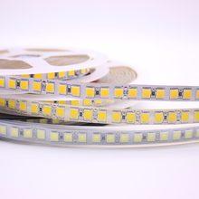 5m 600 led 5054 destacado led viagem, tira de luz flexível 120 led/m, 12v 24v, alto brilho, em seguida, 5050 led branco quente/branco