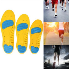 2016 New 1 pair Memory Foam Orthotics Arch Insoles Pain Relief Support Shoes Ins