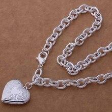 AN751 Модные оптовая серебряное Ожерелье, 925 серебряных ювелирных изделий Трехмерной форме сердца ожерелье/cdkakura hbgapsna