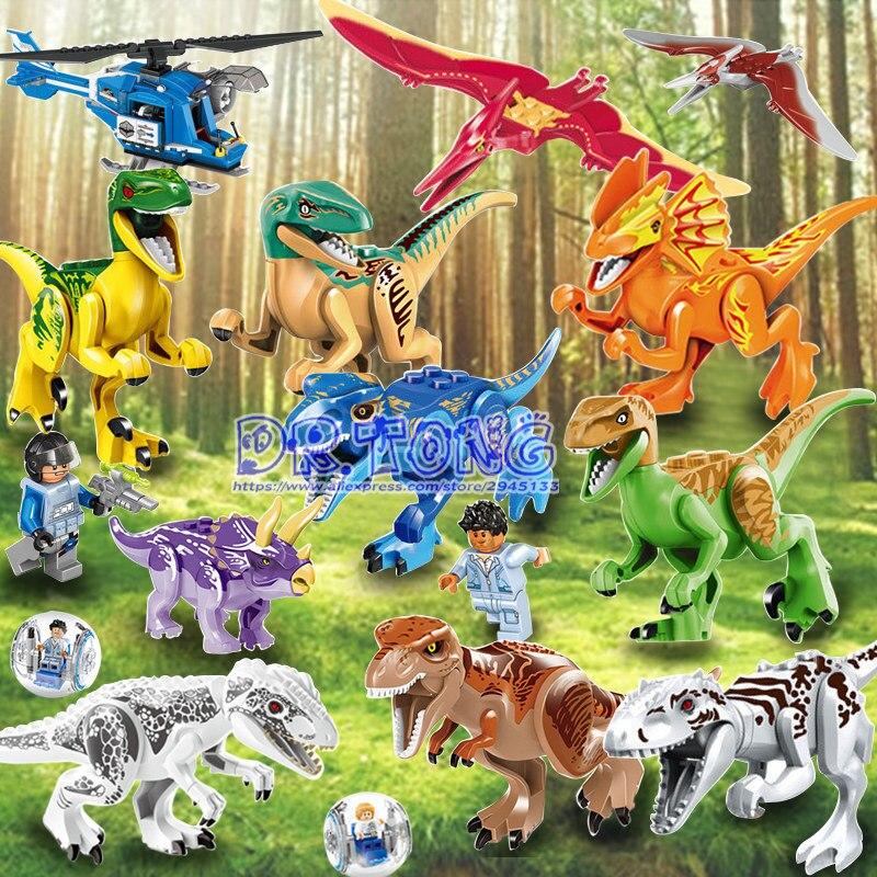 DR.TONG Building Blocks Avengers Dino World Figures Model Dinosaur Bricks Assemble Kids Bricks Toys Children Gifts 77021