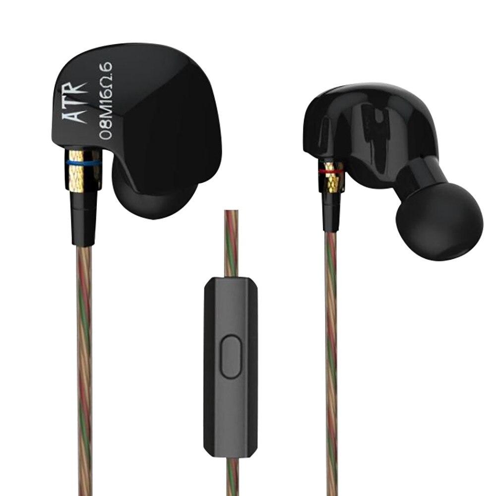 100% Newest 3.5mm Dynamic In Ear Earphone Stereo Bass HIFI Earbuds Headset Wired In-Ear Earphones Earbuds