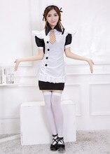 Ensenメイド衣装でエプロンロリータドレス日本の学校均一でエプロンアニメドレス学校エプロンハロウィンコスプレ衣装