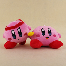 2 Styles Kirby Plush Keychains Pendant Plush Soft Stuffed Animals Toys For Kids Gifts