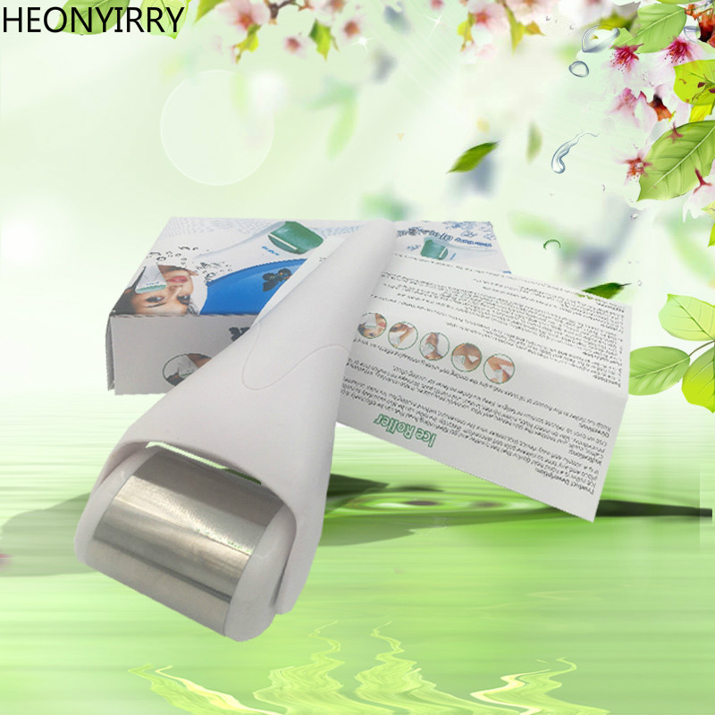 Ice Roller Skin Cool Derma Roller Massager for Face Body Massage Facial Skin Care Wrinkle Removal Dermaroller Massage Tool ultrasonic face care skin care brush eletrical facial massager tool machine facial brush clari pore sonic cleanser