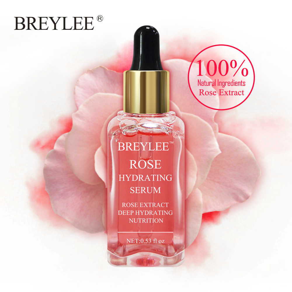 BREYLEE Rose Nourishing Face Serum Deep Hydrating Moisturizing Facial Skin Care Whitening Repairing Anti-Aging ลบริ้วรอย @