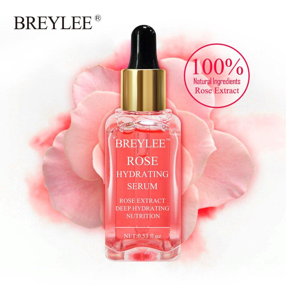 BREYLEE Rose Nourishing Face Serum Deep Hydrating Moisturizing Facial Skin Care Whitening Repairing Anti-Aging Remove Wrinkles @