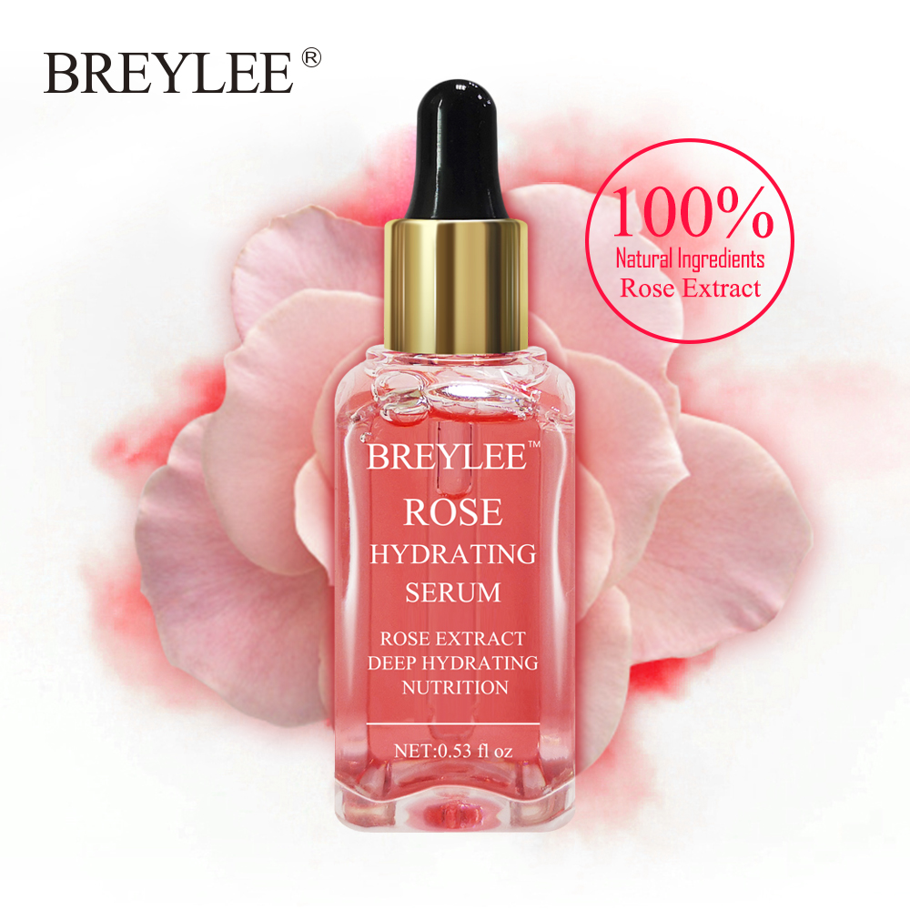 BREYLEE Rose Nourishing Face Serum Deep Hydrating Moisturizing Facial Skin Care Whitening Repairing Anti-Aging Remove Wrinkles @ image