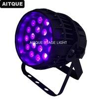 4 lot 밝은 빛 단계 방수 파 64 led dmx 18x18 w led par64 빛 rgbw uv led 파 ip65 조명