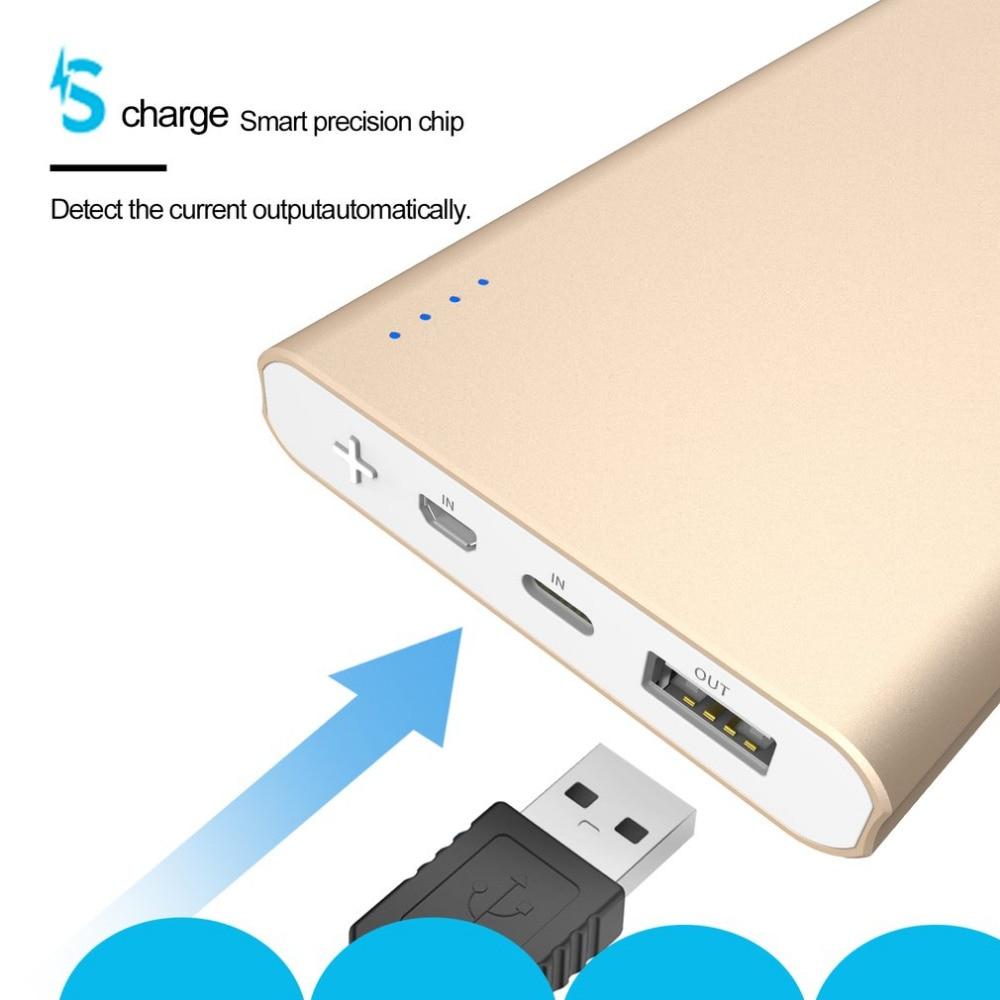 Aigo 10000mAh Power Bank 2 Inputs Ultra-slim Li-polymer Powerbank Portable External Batteries Poverbank for IPhone 4 4s 6 7 8 X