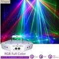 6 объектив диско Сканирование Лазерный свет RGB Полноцветный луч света DJ эффект проектор сканер Лазерное освещение сцены система лазерного ш...