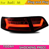 doxa Car Styling for au di A6 Taillights 2009 2012 for A6 LED Tail Lamp Rear Lamp DRL+Brake+Park+Signal led lights