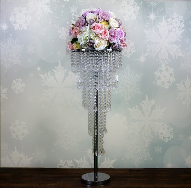 2016 Acrylic Crystal Wedding Centerpiece Table 80cm Tall 35cm Diameter 5 Tier
