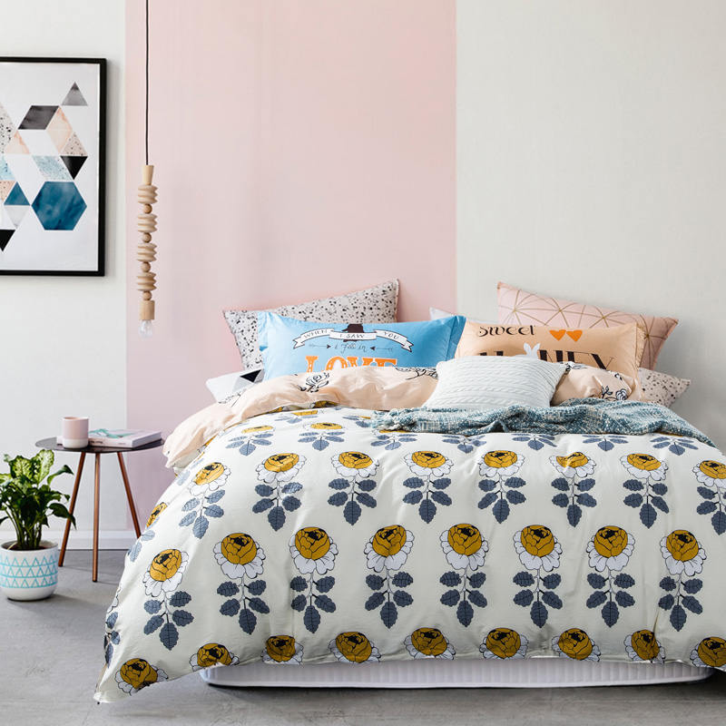 Yellow Roses Flower Beddings 100% Cotton Bed Sheet Sets 3D Duvet Cover Morden Style Kids Girls Adults Full Queen Bedspread 4/5PCYellow Roses Flower Beddings 100% Cotton Bed Sheet Sets 3D Duvet Cover Morden Style Kids Girls Adults Full Queen Bedspread 4/5PC