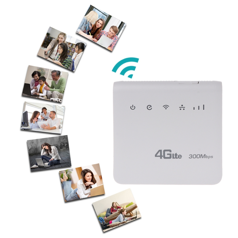 Unlocked 300Mbps 4G LTE CPE Mobile WiFi Wireless Router 2.4GHz WFi Hotspot For SIM Card Slot With Lan Port SIM Card Slot 300mbps unlocked 4g lte cpe wireless router support sim card 4pcs antenna with lan port support up to 32 wifi users wps function