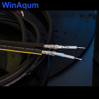 WinAqum Double Row Silver Plated Copper Wire Coaxial Audio Cable For DIY RCA Wire Bass Line