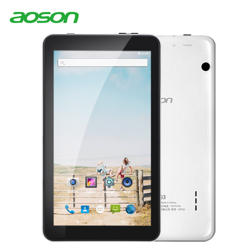 7 pulgadas Tablet PC Aoson M753 tabletas 1 GB + 16 GB Android 7,1 Quad Core Dual cámaras Wifi Bluetooth multi idiomas tabletas promoción