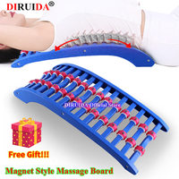 New Upgrade Back Massage Magnet with Roller Spine Pain Relief Lumbar Traction Stretching Device Waist Spine Relax Back Massage