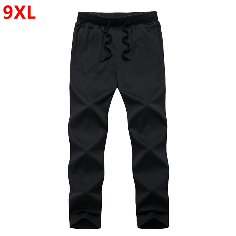 Summer pure color plus size pants male special large thin section summer long pants cotton 9XL 8XL 7XL 6XL 5XL men plus size 4xl 5xl 6xl 7xl 8xl 9xl winter pant sport fleece lined softshell warm outdoor climbing snow soft shell pant