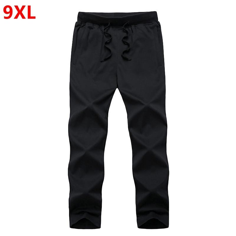 Summer Pure Color Plus Size Pants Male Special Large Thin Section Summer Long Pants Cotton 9XL 8XL 7XL 6XL 5XL