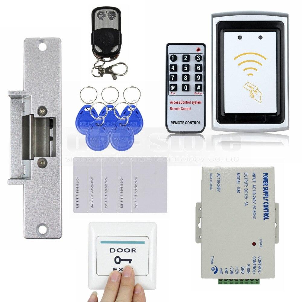 Diysecur strike lock 125khz rfid reader no keypad for Door access controller