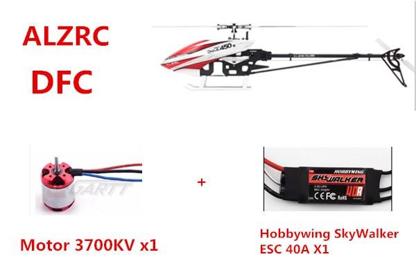 ALZRC - Devil 450 Pro V2 SDC/DFC Combo 450 PRO DFC Helicopter 450 helicopter parts 450v2 v3 sport pro dfc spindle screws set m2 12 10pcs sku 11966