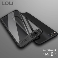 For Xiaomi Mi 6 Case TPU+Acrylic Transparent Back Cover for Xiaomi Mi6 Cases LOLI Brand Phone Case for Xiaomi6 Protective Cover(China)