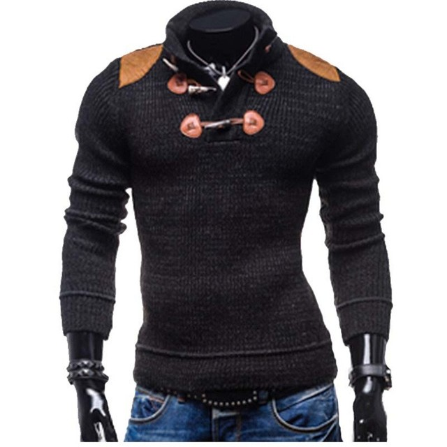 Men's Knit Sweater 2017 New Slim Long Sleeved Sweater Men's Fashion Patchwork Knitwear Pullover assassins creed Plus Size XXXL